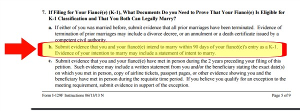 I 129f evidence of intent to marry requirement visa tutor spiritdancerdesigns Image collections
