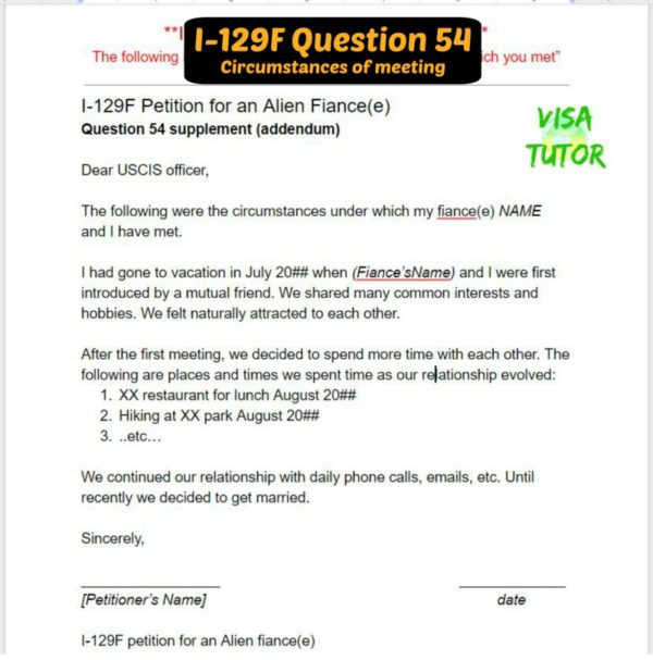 I-129F Question 54 sample letter for k1 visa (previously question 34.a)