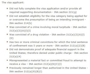 K-1 fiance visa denial reasons from the Affidavit of suport I-134