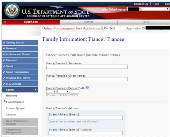 step 9 Fill out and submit the family information