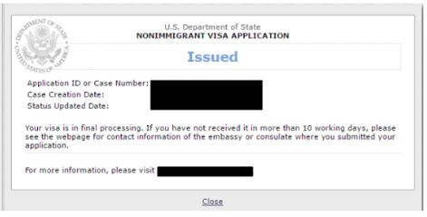 "the CEAC status reads ""issued"" when your K-1 visa is approved by the consulate"