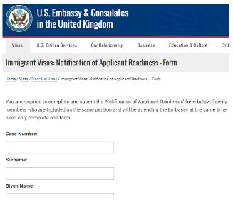 DS-2001 is the applicant readiness for the K-1 visa interview