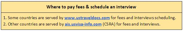 Visit the USTravelDocs of CSRA to pay visa fees and schedule the K-1 visa interview and biometrics