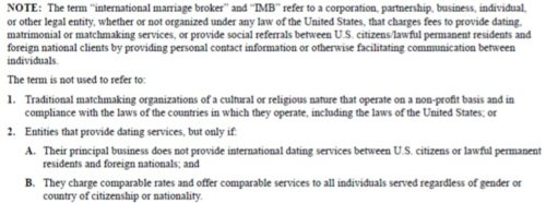 i-129f International Marriage broker instructions and how the us petitioner must comply by providing a written statement