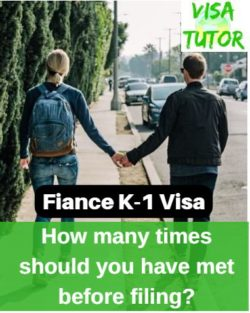 The number of times you should have met your fiance before filing the I-129F petition for a k-1 visa, depends on many circumstances. Including how far you live from one another. Meeting too few times is a Red Flag.