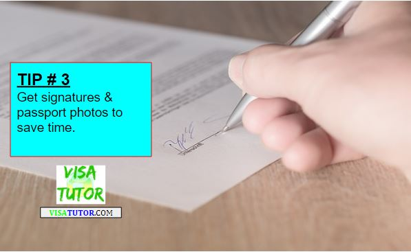while you're there, get signatures for your letter of intent to marry and get passport size photos.