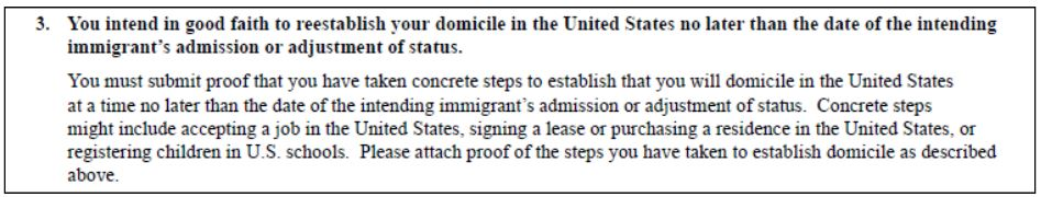 the i-864 domicile option is to show you intend to move back. Use the same documents for your I-134