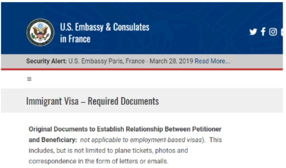 The US Embassy tells us they want to see our relationship evidence at the K visa interview