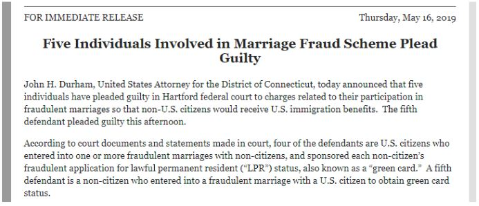 recent news shows how marriage fraud may be prevalent in those how use k-1 visa to get permanent residency and then divorce