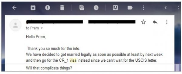 one of my fiance visa couples ask if it'll be a problem for their future to withdraw a petition