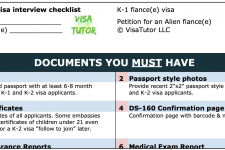 Fiance K-1 Visa interview Checklist (with preparation guide)