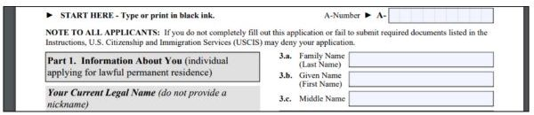 Form I 485 Instructions How To Fill It Out For K Visa Applicants Visa Tutor