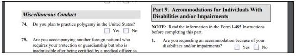 part 9 is accommodations for disabled persons