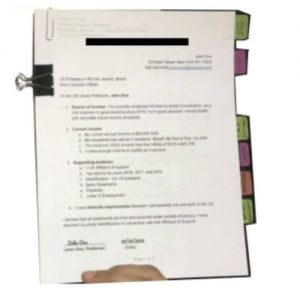 how the final I-485 packet looks before mailing