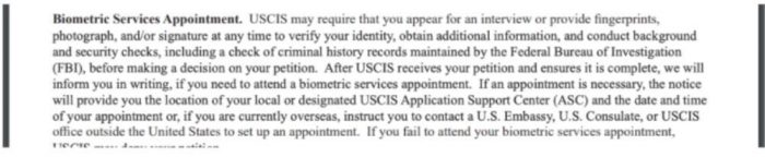 Per I-751 instructions, a biometrics is required for K visa holders